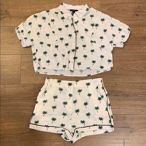 Cactus printed shorts